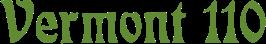 The Vermont 110 logo